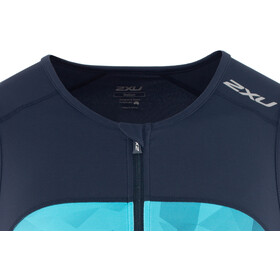 2XU Active Koszulka triathlonowa Mężczyźni, midnight/blue terrain
